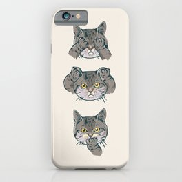 No Evil Cat iPhone Case
