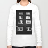 norway Long Sleeve T-shirts featuring Facade in Trondheim, Norway by Archilse