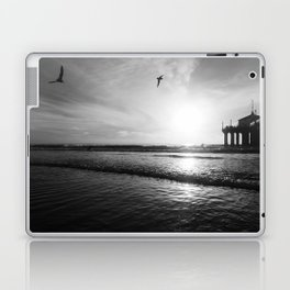 Surfing, and Soaring in Black and White Laptop & iPad Skin
