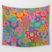 bohemian Wall Tapestries featuring Bohemian by Helene Michau