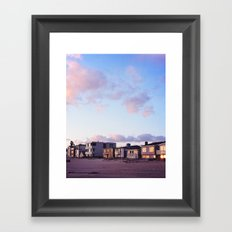 Midcentury Style Homes along the Beach, Sunset Beach, California Framed Art Print