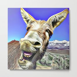 Laughing Jackass Metal Print