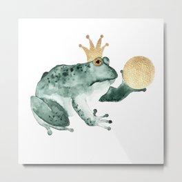 The Frog King Metal Print