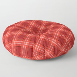 Red Plaid Pattern Floor Pillow
