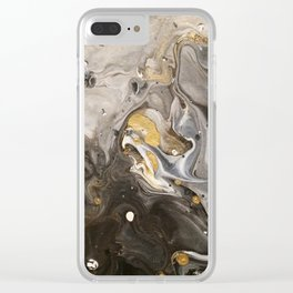 Acrylic pour #1 Clear iPhone Case
