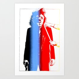 tailored.lion.colourful Art Print
