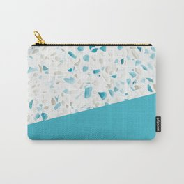 Terrazzo Texture Pacific Light Blue #5 Carry-All Pouch