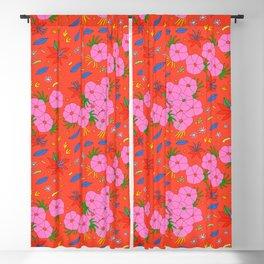 Japanese Floral Pattern Kimono Style Blackout Curtain