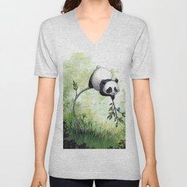 Panda Hello Unisex V-Neck