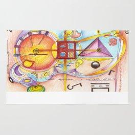 symbols on the walls Rug