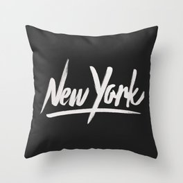 NYC is over the top Throw Pillow