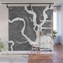 Charleston USA Modern Map Art Print Wall Mural