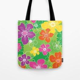 Hawaiian inspired tropical florals Tote Bag