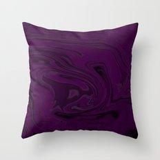black and purple swirls  Throw Pillow