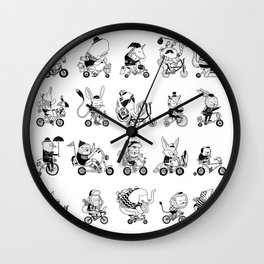 Animals Bicylcle Club Wall Clock