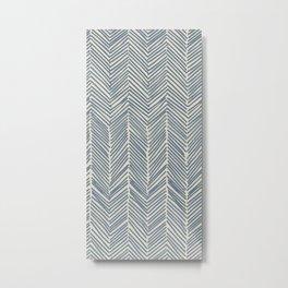 Freeform Arrows in navy Metal Print