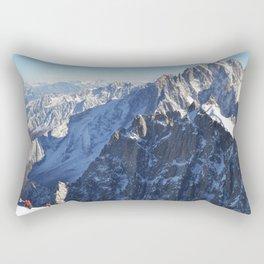 Mont Blanc, Chamonix. Rectangular Pillow