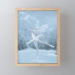Snow Dancer Framed Mini Art Print