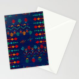 -A17- Anthropologie Moroccan Blue Artwork. Stationery Cards