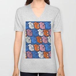retro squirrels- pattern Unisex V-Neck
