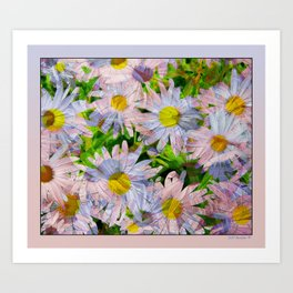 DAISEY MADNESS ABSTRACT  Art Print