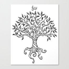 Shirley's Tree BW Canvas Print
