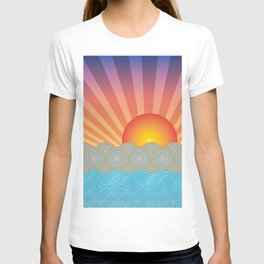Oriental Seaview Sunset T-shirt