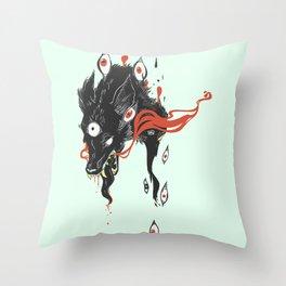 Magical Wolf Third Eye Art Throw Pillow