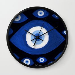 Evil Eyes Montage Wall Clock