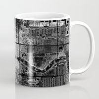 london map Mugs featuring London Map by Le petit Archiviste