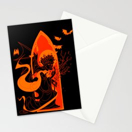 Beati Vespertilionem: Orange Stationery Cards