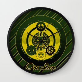One Love (Green) Wall Clock