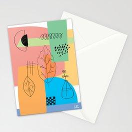 Floral Seasons Illustration Digital Collage Stationery Cards
