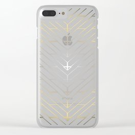 """""""3 Points Where 2 Lines Meet - Silver & Gold"""" Clear iPhone Case"""