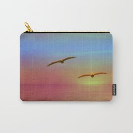 Just You And Me ~ Seagulls Southern California Sunset Carry-All Pouch