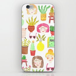 girls and plants iPhone Skin