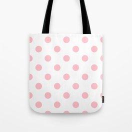 Polka Dots - Pink on White Tote Bag