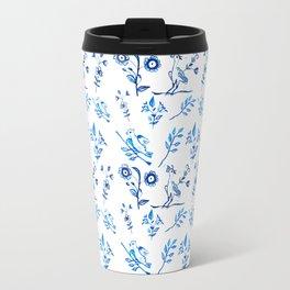 Ceramic Portuguese -Pattern Travel Mug