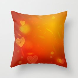 Abstract red Heart. Valentine's day card Throw Pillow