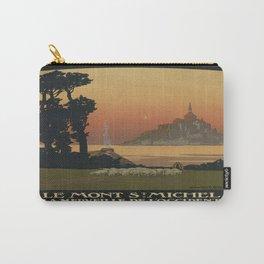 Vintage poster - Mont Saint-Michel Carry-All Pouch