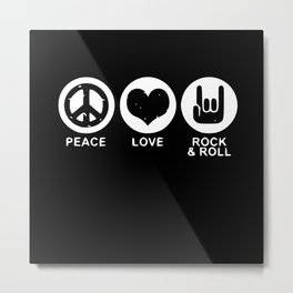 Rock Music Rock And Roll Rock Music Gifts Metal Print