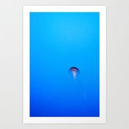 Floating. Art Print