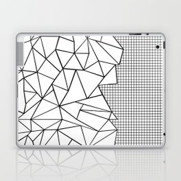 Abstraction Outline Grid on Side White Laptop & iPad Skin