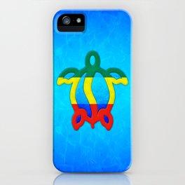 Blue Water Rasta Honu iPhone Case