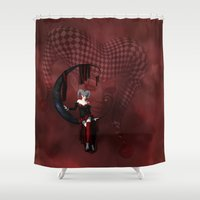 joker Shower Curtains featuring Joker by Simone Gatterwe