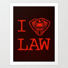 Law Lover Art Print
