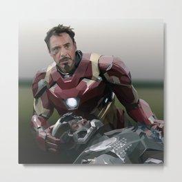 Tony and Rhodey Metal Print