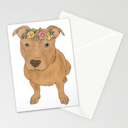 Colourful Pit Bulls, Pit Bulls Gift Stationery Cards