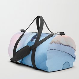 Blessing Fluid ink abstract watercolor Duffle Bag