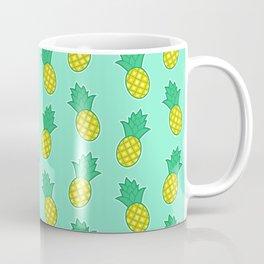 Pineapples (Aqua Background) Coffee Mug
